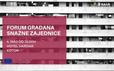 Forum građana – Snažne zajednice u Kotoru
