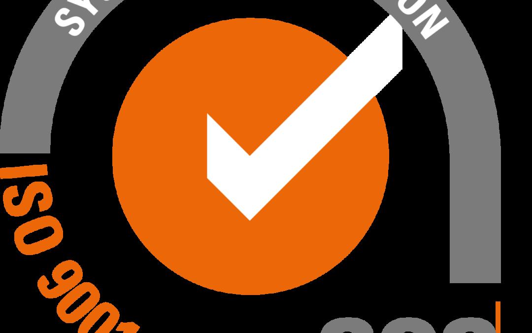 Međunarodni sertifikat za sistem menadžmenta organizacije provjeren i sertifikovan prema zahtjevima standarda ISO 9001:2015