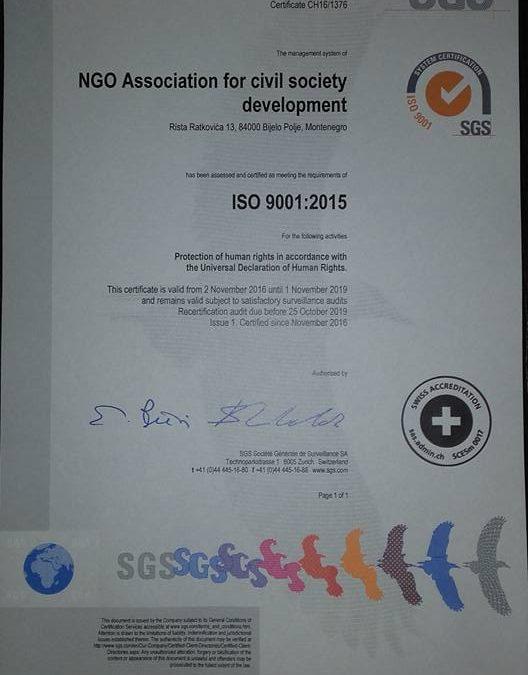 SERTIFIKAT ISO 9001: 2015