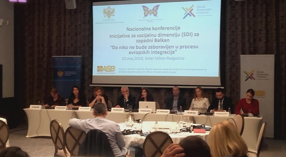 """Nacionalna konferencija Inicijativa za socijalnu dimenziju (SDI) za zapadni Balkan """"Da niko ne bude zaboravljen u procesu evropskih integracija"""""""